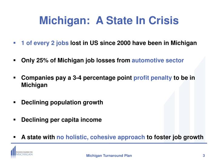 Michigan a state in crisis