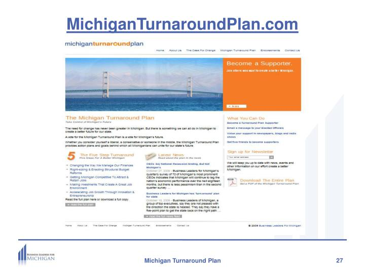 MichiganTurnaroundPlan.com