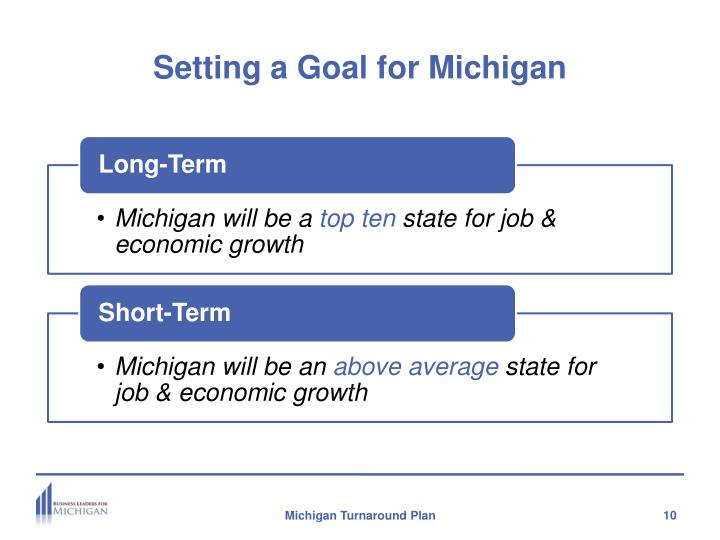 Setting a Goal for Michigan