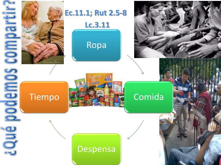 Ec.11.1; Rut 2.5-8