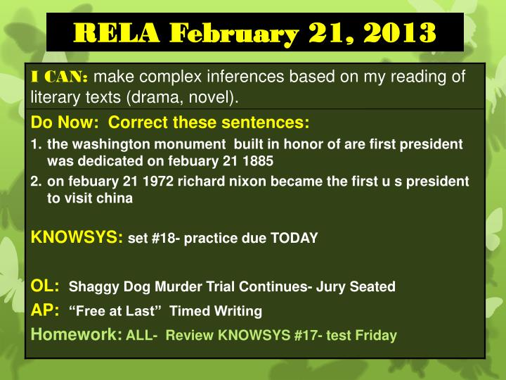 RELA February 21, 2013