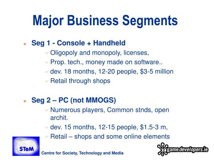 Major Business Segments