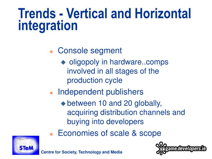 Trends - Vertical and Horizontal integration
