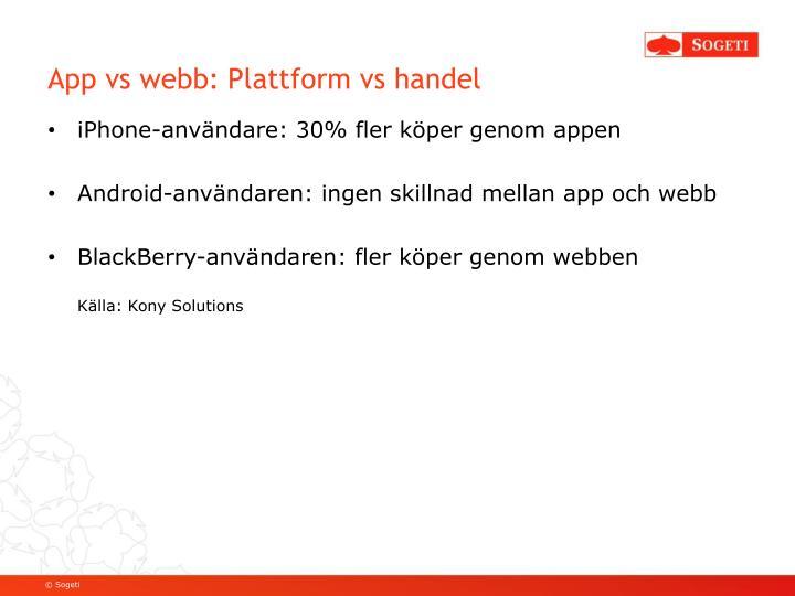 App vs webb: Plattform vs handel