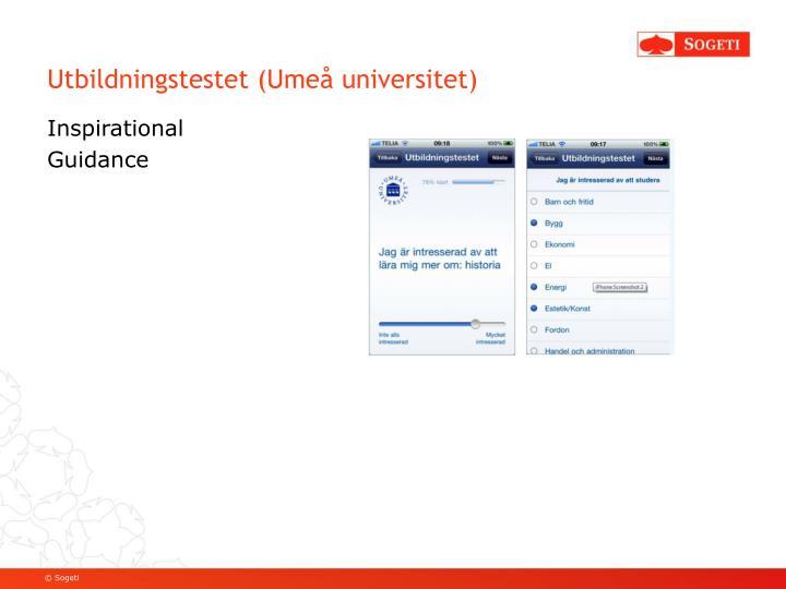 Utbildningstestet (Umeå universitet)