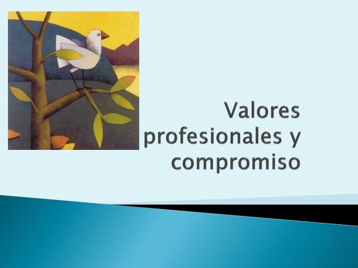 Valores profesionales y compromiso