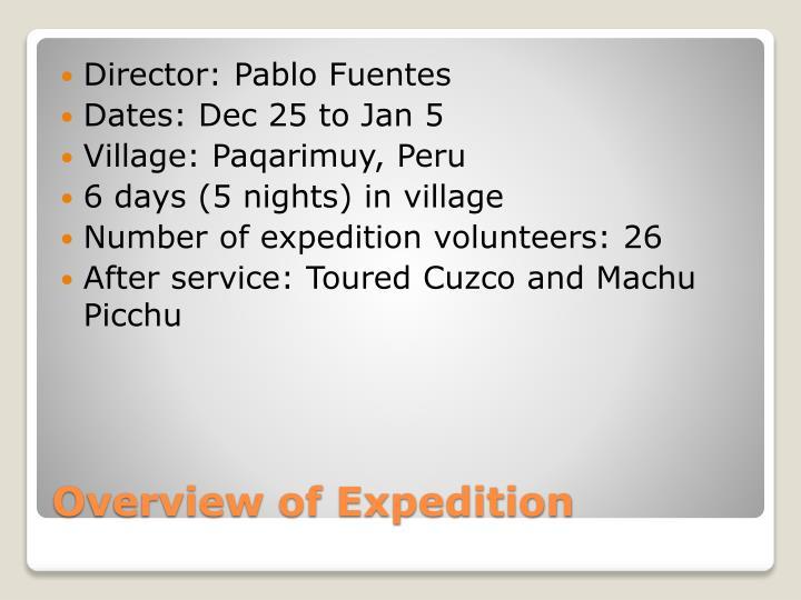Director: Pablo Fuentes