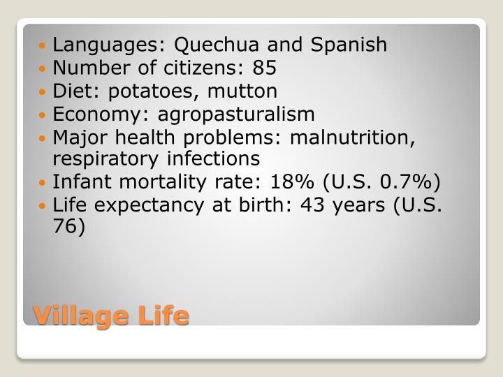 Languages: Quechua and Spanish
