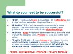 what do you need to be successful