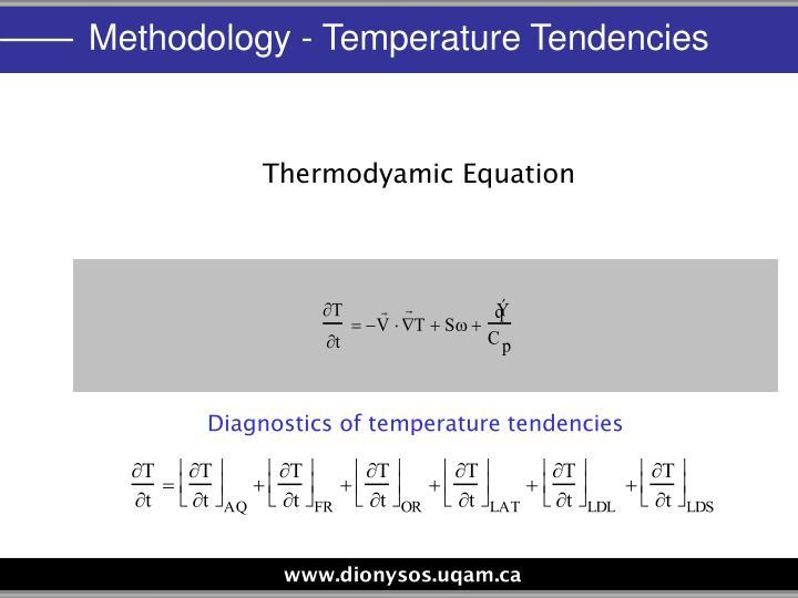 Methodology - Temperature Tendencies