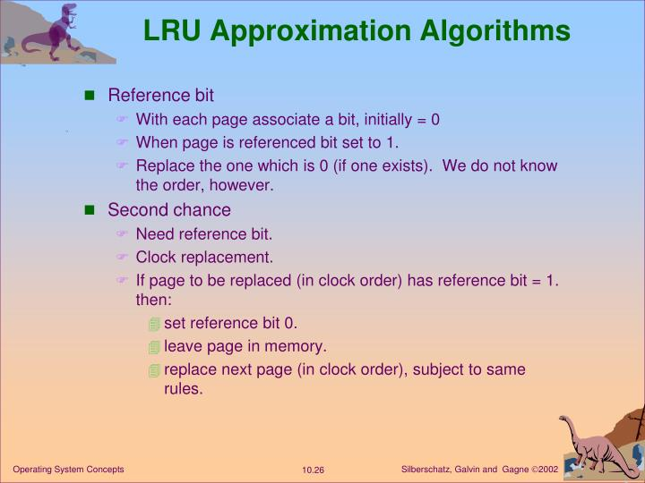LRU Approximation Algorithms
