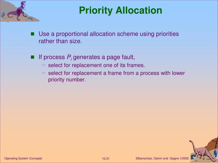 Priority Allocation