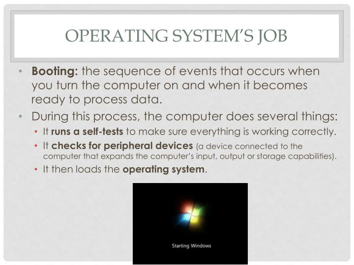 Operating System's Job