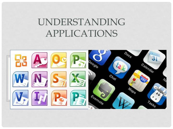 Understanding Applications