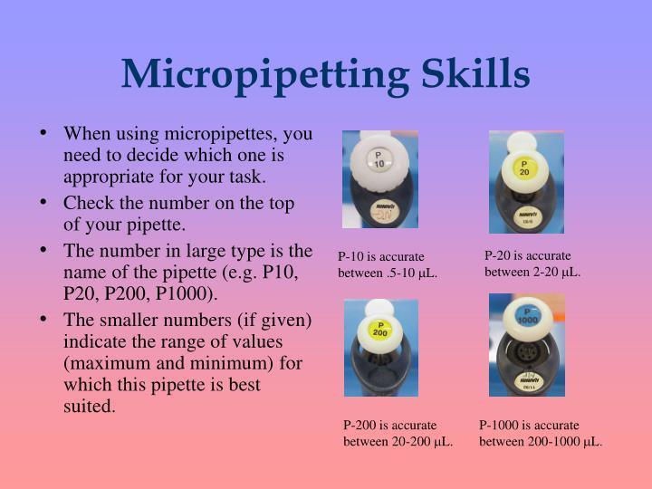 Micropipetting Skills