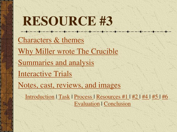RESOURCE #3