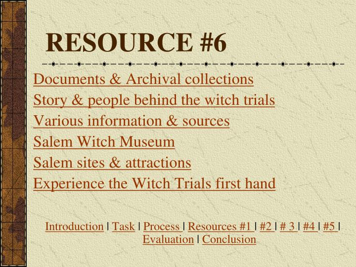 RESOURCE #6
