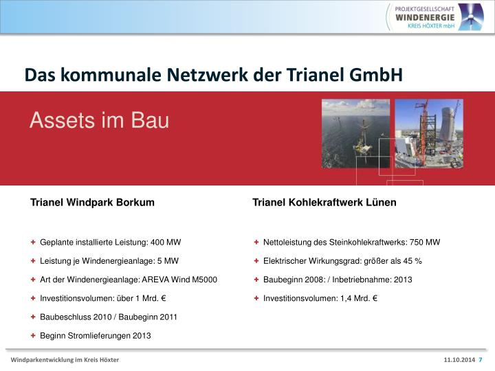 Das kommunale Netzwerk der Trianel GmbH