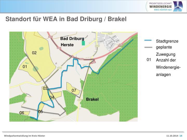 Standort für WEA in Bad Driburg /