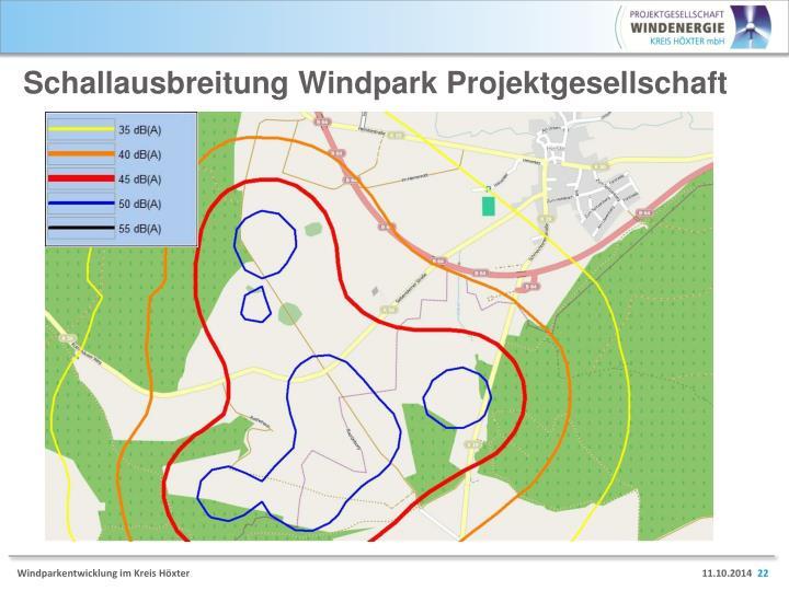Schallausbreitung Windpark Projektgesellschaft