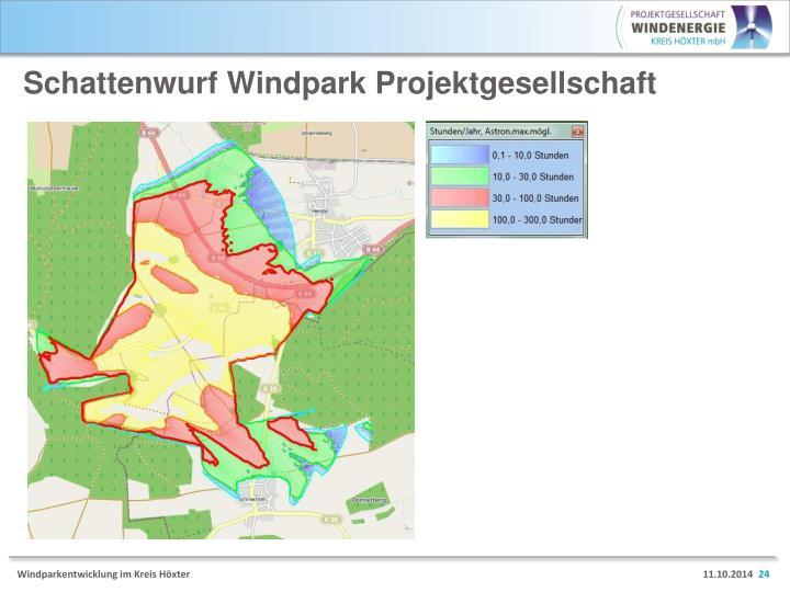 Schattenwurf Windpark Projektgesellschaft