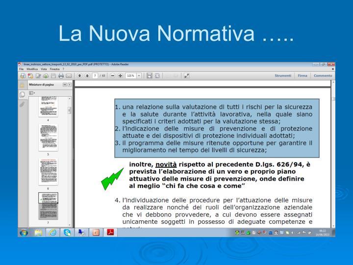 La Nuova Normativa …..