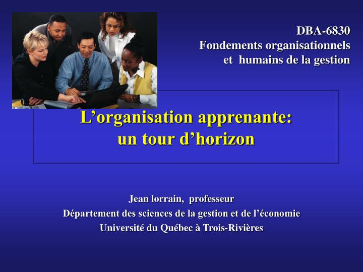 L organisation apprenante un tour d horizon