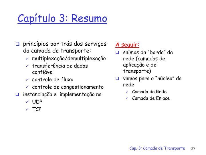 princípios por trás dos serviços da camada de transporte: