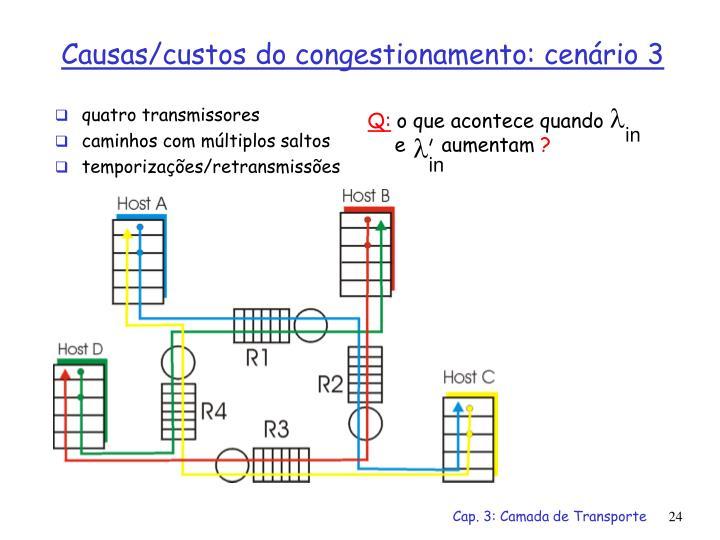 quatro transmissores