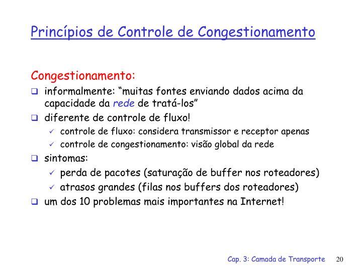 Congestionamento: