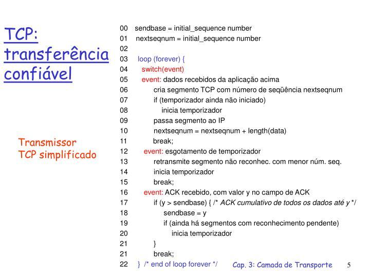 TCP: transferência confiável