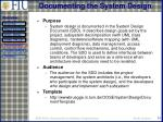 documenting the system design