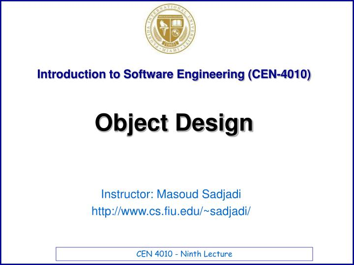 Introduction to software engineering cen 4010