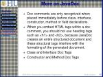 more on javadoc