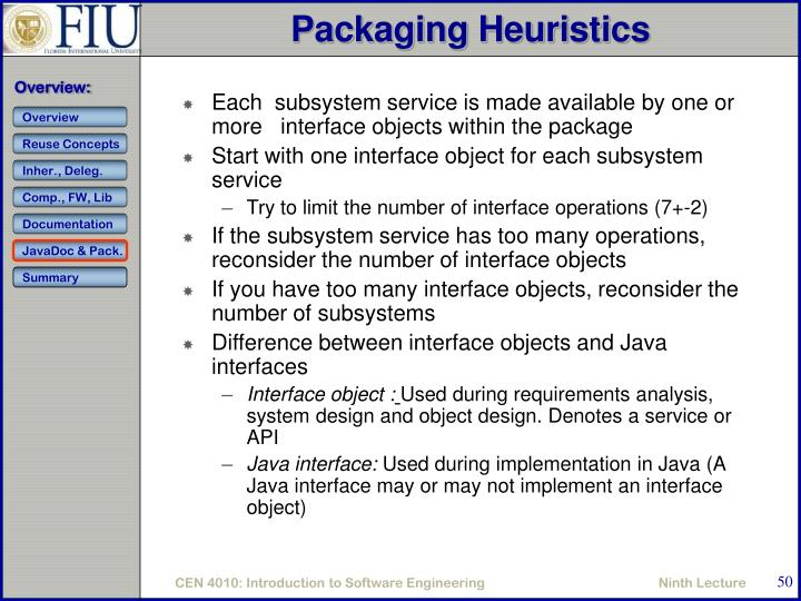 Packaging Heuristics