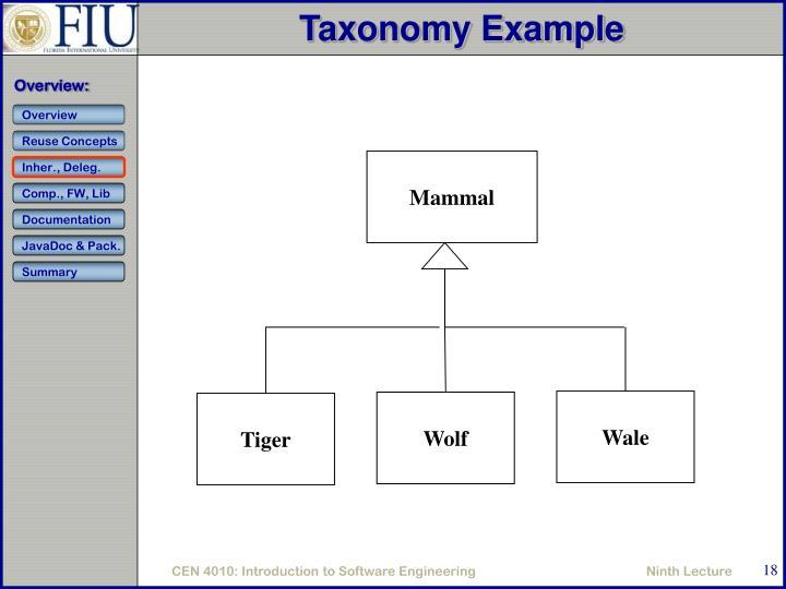 Taxonomy Example