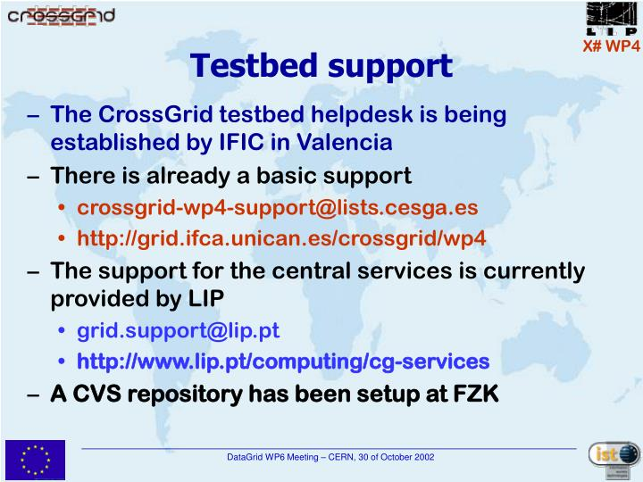 Testbed support