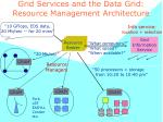 grid services and the data grid resource management architecture