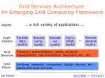grid services architecture an emerging grid computing framework