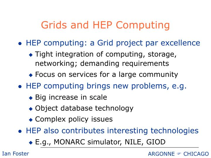 Grids and HEP Computing