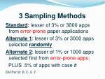 3 sampling methods