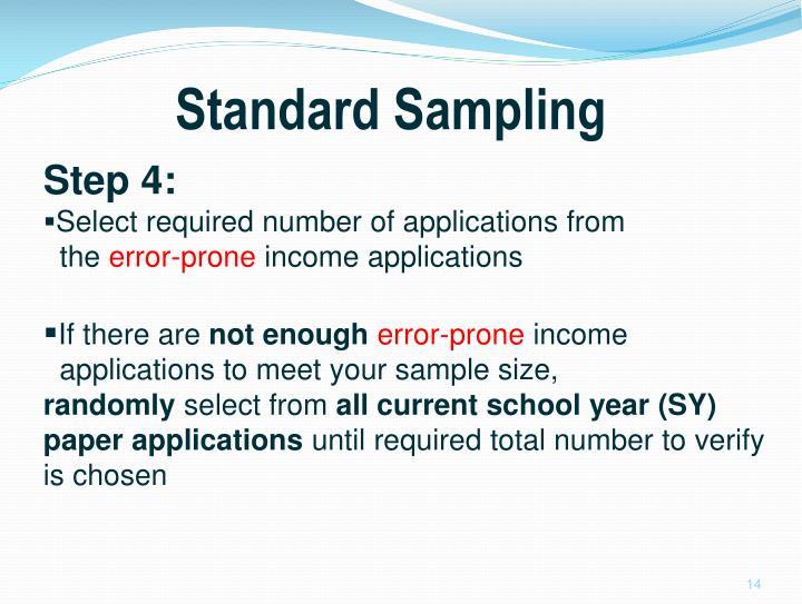 Standard Sampling