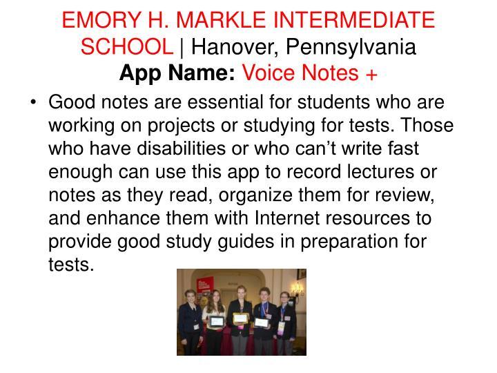 EMORY H. MARKLE INTERMEDIATE SCHOOL