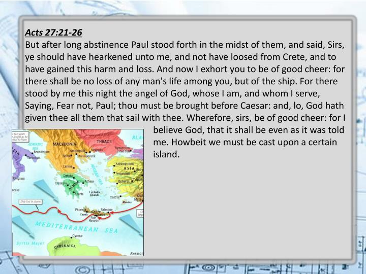 Acts 27:21-26