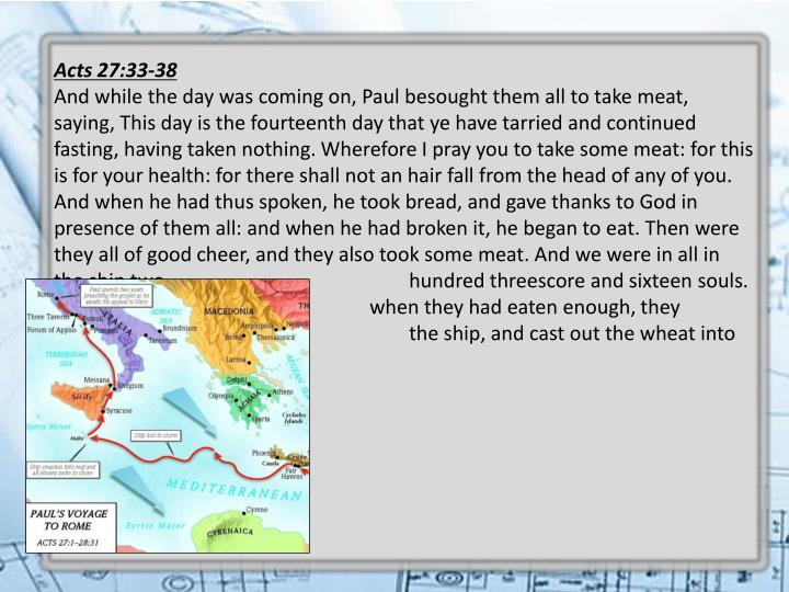 Acts 27:33-38