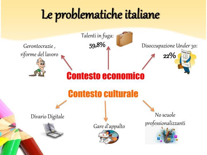 Le problematiche italiane