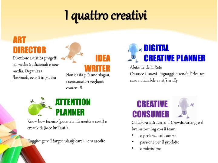 I quattro creativi