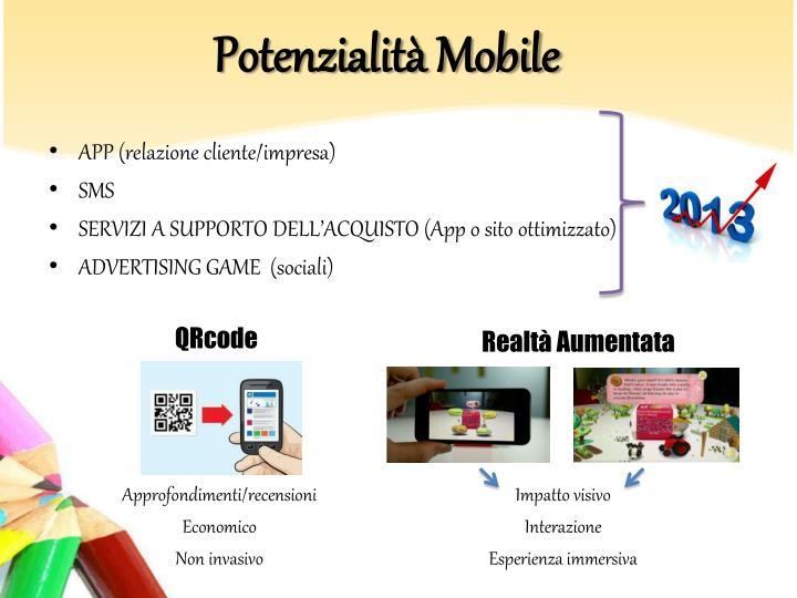 Potenzialità Mobile