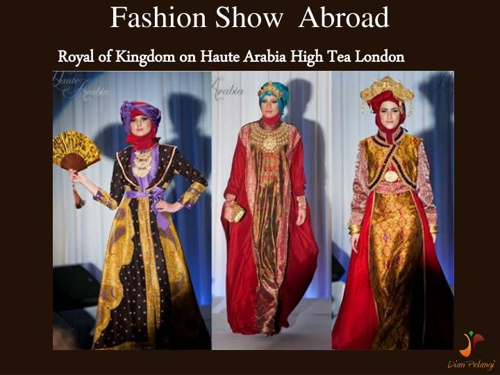 Fashion Show  Abroad