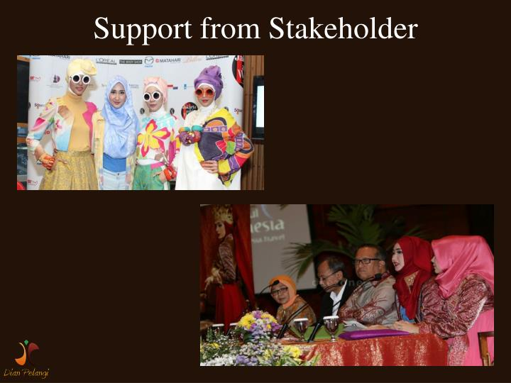 Support from Stakeholder